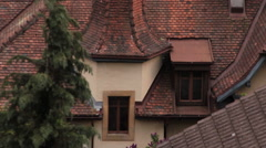 Neuchatel tilt up from Rooves to Alps Stock Footage