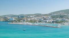 Kusadasi Turkey Vacation Destination Marina Stock Footage