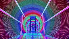 Rainbow light tunnel Stock Footage
