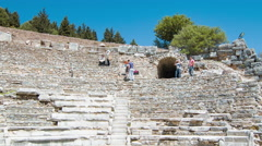 Selcuk Turkey Ephesus Marble Court of Law Arena Stock Footage