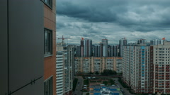 Multi-storey residential buildings timelapse Stock Footage