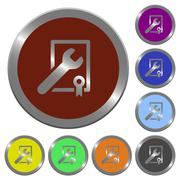 Color award winning support buttons Stock Illustration
