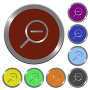 Color zoom out buttons Stock Illustration