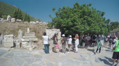 Selcuk Turkey Nike Goddess of Victory in Ephesus Stock Footage