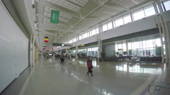 Washington DC Dulles Airport Terminal Interior Stock Footage