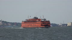 The Staten Island ferry in New York, United States. Stock Footage