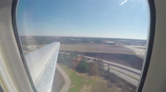 Landing at Atlanta View Out of Airliner Window Stock Footage