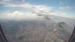 In-flight Airliner Wings Over Johannesburg Stock Footage