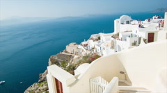 Picturesque View from Oia Town in Santorini Greece Stock Footage