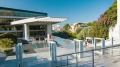Athens Greece Tourists Visiting the Acropolis Museum Stock Footage