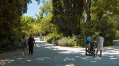 Athens Greece People at the National Gardens Stock Footage