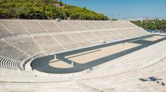Athens Greece Panathenaic Stadium Stock Footage