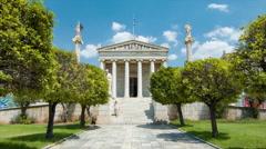 Athens Greece Academy Building Exterior Stock Footage
