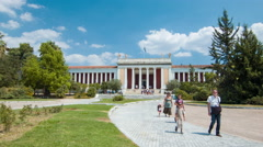 Athens Greece National Archaeological Museum Stock Footage