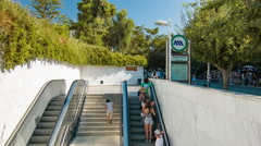 Athens Greece Acropoli Metro Station Stock Footage