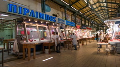 Athens Greece Central Market Stock Footage