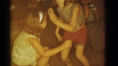 1966: little girls are dancing at the family event CLARKSDALE, ARIZONA Stock Footage