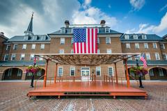 City Hall and Market Square, in the Old Town, of Alexandria, Virginia. Stock Photos