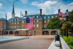 Market Square and City Hall, in Old Town, Alexandria, Virginia. Stock Photos