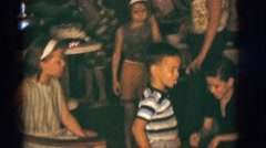 1966: children and adults at home party CLARKSDALE, ARIZONA Stock Footage