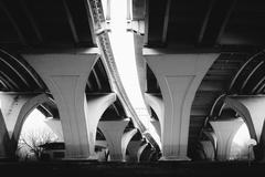 The Woodrow Wilson Bridge, in Alexandria, Virginia. Stock Photos