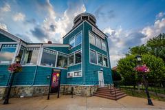 Waterfront restaurant, in Alexandria, Virginia. Stock Photos