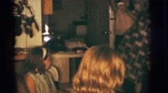 1966: family of four adults and 4 children gathering for a meal CLARKSDALE, Stock Footage