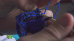 Knitting Wool Scarf Stock Footage