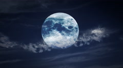Full Moon With Clouds Stock Footage