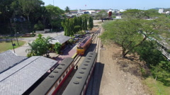 Head coach train station Stock Footage