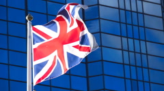 Slow Motion British Flag Stock Footage