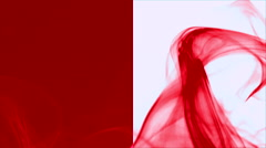 Wave of red smoke on red and white vertical splited background 5 Stock Footage