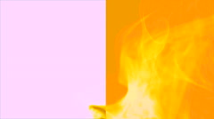 Wave of yellow smoke on yellow and white horizontal splited background 4 Stock Footage
