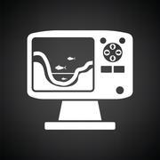 Icon of echo sounder Stock Illustration
