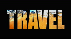 4K Travel Beach and Water Shore Life, Animated Broadcast Design Text Stock Footage