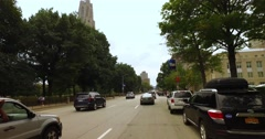 Driver's Perspective View on Streets of Pittsburgh's Oakland Area   Stock Footage