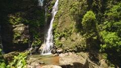 Tamaraw falls in Puerto Galera, Philippines, tilt up Stock Footage
