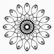 Black and white ethnic patterns. Geometric and aztec decor elements. Stock Illustration