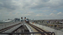 Toronto Airport Union Pearson Express Stock Footage