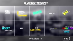 50 Unique Typogtaphy Stock After Effects