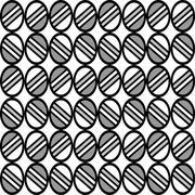 Geometric fun pattern with grey circular shapes Stock Illustration