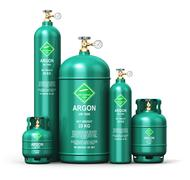 Set of different liquefied argon industrial gas containers Stock Illustration