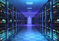 Server room interior in datacenter Piirros