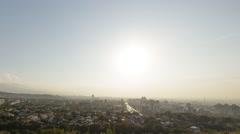 Sunset over Almaty. View from Kok-Tobe. Kazakhstan Stock Footage