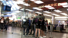 Customers line up outside of the Apple Store to buy the just released iPhone 7 Stock Footage