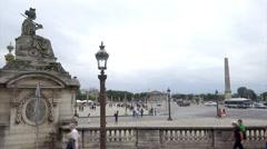Place de la Concorde Stock Footage