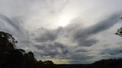 Time Lapse Cloud Formations Over the Valley  Stock Footage
