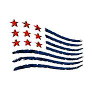 American wave flag symbol Independence Day Piirros