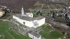 Convent of San Lorenzo - Sondrio - Valtellina Stock Footage