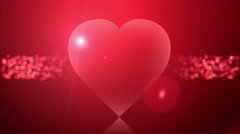 Romantic animated cards with hearts background Stock Footage